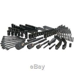 Mechanic Tool Set 201pcs Black Universal Ratchet Socket Allen Wrench Hex Key Kit