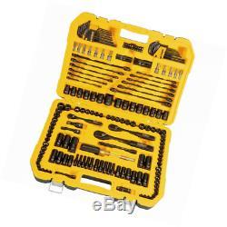 Mechanics Tool Kit DEWALT 181 Piece Mechanics Tool Set Sockets Ratchet Wrenches
