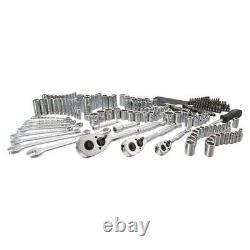 Mechanics Tool Set SAE & Metric (201-Piece) Repair Shop Home Carry Case Chrome