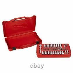 Milwaukee 48-22-9004 50 Pc 1/4 SAE/Metric Ratchet and Socket Mechanics Tool Set