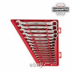 Milwaukee 48-22-9416 15 Piece Ratcheting Combination Wrench Set SAE