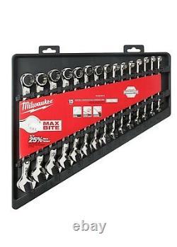 Milwaukee 48-22-9515 15pc Combination Wrench Set Metric