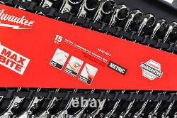 Milwaukee 48-22-9515 Max Bite Combination Wrench Set Metric 15 Piece