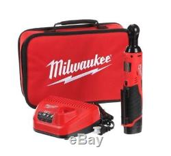 Milwaukee M12 12 Volt Lithium Ion 3 8 Cordless Ratchet Kit Set Socket Wrench
