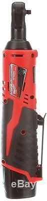 Milwaukee M12 Cordless 1/4 in. Ratchet Wrench Kit Set Portable Auto Power Tool