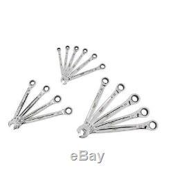 Milwaukee SAE/Metric Combination Ratcheting Wrench Mechanics Tool Set (30-Piece)