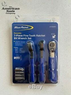 NEW Blue-Point 7-pc Fine Tooth Ratchet Bit Miniature Wrench Set BTWSMPK