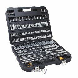 NEW DEWALT 192 Piece Mechanics Tools Set Non Slip Surface with Carry Case SEALED