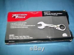 NEW MAC Tools 8 thru 19 mm 12-point Box Stubby Ratchet Wrench Set SRWMS212PT