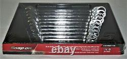 NEW Snap-on 10pc Metric Wrench Set FLANK DRIVE PLUS Reversible Ratcheting 10-19