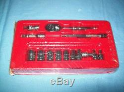 NEW Snap-on 1/4 drive SAE General Service 6-pt Socket Set T72 Ratchet 114ATMP