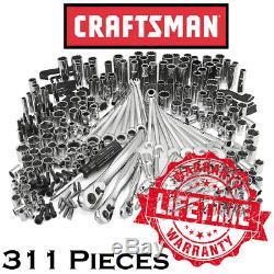 New CRAFTSMAN 311 Piece Mechanics Tool Set, 75 Tooth Ratchet Socket Wrench