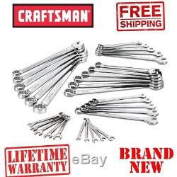 New CRAFTSMAN 32pc Piece Inch Metric Combination WRENCH SET Standard mm