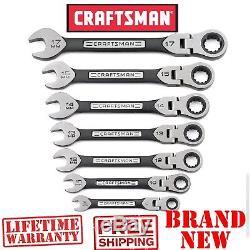 New CRAFTSMAN 7pc Piece METRIC Universal FLEX Ratcheting WRENCH SET Combination