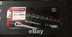 New Craftsman 16pc 12pt Standard 3/4 in. Drive Socket Wrench Set 946304