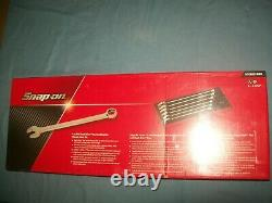 New Snap-on 1 thru 1 5/16 12-point Flank drive Plus Wrench Set SOEX02FMBR