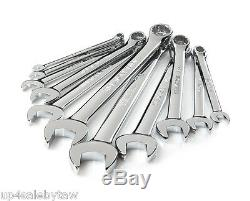Polished Combination Wrench Set, Inch/Metric, 22-Piece