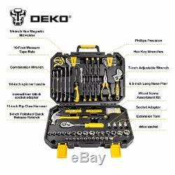 Pro socket wrench mechanic 128 pcs Hand Tool Set General household Ratchet Box
