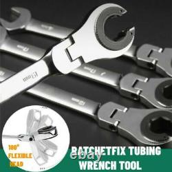 RatchetFix Tubing Wrench with 180°Movable Head Professional Auto Repair Tool Set