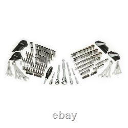 Ratchet Mechanics Tool Set Chest 72-Tooth 244 Piece 1/4 in. 3/8 in. 1/2 in