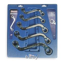 Ratchet Obstruction Wrench Set, S-Shape WESTWARD 1LCE8