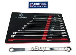 Ratchet Ring Spanner Set Sizes 8 To 19mm Britool Hallmark