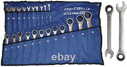 Ratschenschlüssel Ring Maul Ratsche Schlüssel Satz 6-32mm 22 tlg Werkzeug Set