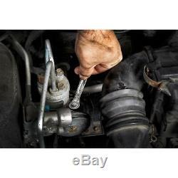 SAE Combination Ratcheting Wrench Mechanics Tool Set (15-Piece)