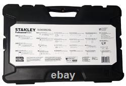 STANLEY Professional Grade Black Chrome NEW Mechanics Tool Set Socket Set-229