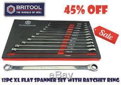Sale Britool Hallmark XL Ratchet Ring Spanner Set Sizes 8 To 19mm In Foam Tr