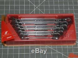 Snap On 7Pc SAE Flank Drive Plus Ratcheting Wrench Set 3/8 3/4 SOEXR707 Dr NEW