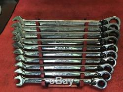 Snap On Flank Drive Plus Ratcheting Wrench Set, SOERXM710, 10-19mm, Metric, Nice
