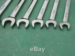 Snap On Soexrm710 Metric Ratcheting Wrench Set 10mm 19mm Soexrm10 Soexrm19 USA