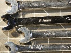 Snap On Tools 10Pc Metric Speed Ratcheting Wrench Set 10MM 19MM 12Pt SRXRM710