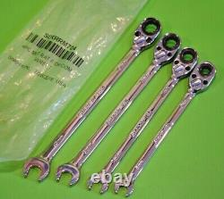 Snap On Tools 4pc Metric 6mm-9mm Flank Drive Plus Ratchet Spanner Set SOXRRM704