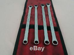Snap-on 4pc 12-Point Metric Flank Combination Ratcheting Box Wrench Set XDHRM604