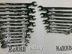 Snap-on Tools USA NEW 23 Piece SAE & Metric Ratcheting Combo MASTER Wrench Set