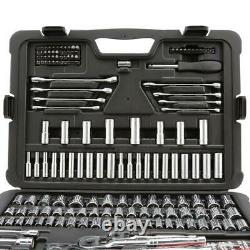 Stanley 201-PC Mechanics Tool Set Sockets Wrenches Screwdriver Durable Case NEW