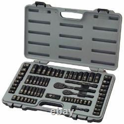 Stanley 92-824 69-Piece Socket Mechanics Tool Set Black Chrome