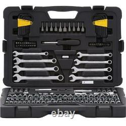 Stanley Mechanics Tool Set (145-Piece) Ratchets Sockets Wrenches Heavy Duty Case