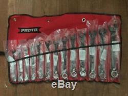 Stanley Proto JSCVM-13S 13 Piece Black Combination Ratcheting Wrench Set New