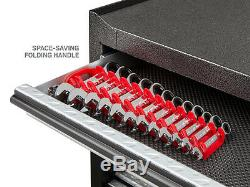 Stubby Ratcheting Combination Wrench Set with Store and Go Keeper Metric 12-Pc