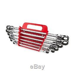 Tekton Extra Long Flex Head Ratcheting Box End Wrench Set 6 Piece Ratchet Tools
