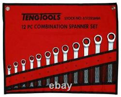 Teng Tools 6512RSMM 12 PIECE RATCHETING COMBINATION SPANNER SET