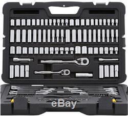 Tool Set Mechanics Kit Wrench Sockets Kit Ratchet Ratcheting Universal 145 Piece