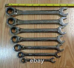USA CRAFTSMAN INDUSTRIAL Reversible Ratcheting Wrench Set METRIC box polished