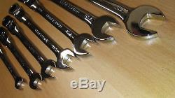 USA Made CRAFTSMAN Locking Flex Head Ratcheting Wrench Set SAE inch 42400 NEW