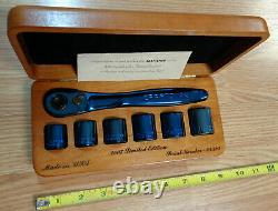 USA Made CRAFTSMAN TITANIUM BLUE RATCHET & SOCKET SET SAE INCH 3/8 wrench 44995