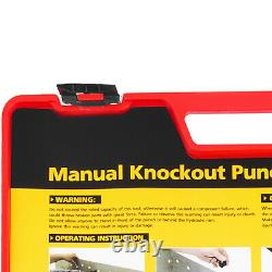 VEVOR CC-60 Knockout Punch Set 1/2 to 2 6 Dies 10 Gauge with Ratcheting Wrench