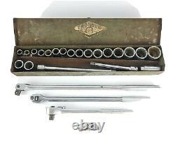 Vintage Craftsman USA 1/2 Inch Drive Sockets Ratchet Breaker Bars Extension Lot